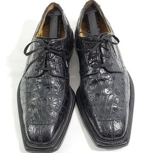 Vintage Avventura Men's Black Crocodile Split Toe